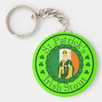 La cerveza de malta irlandesa de St Patrick Llaveros Personalizados