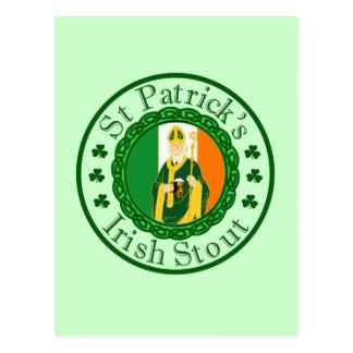 La cerveza de malta irlandesa de St Patrick Postal
