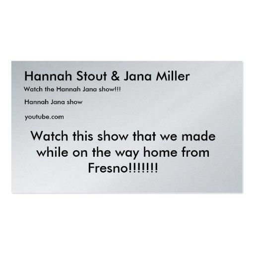 La cerveza de malta y Jana Miller de Hannah, miran Tarjetas De Visita
