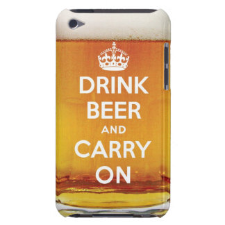 La cerveza divertida de la bebida y continúa iPod touch Case-Mate funda