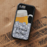 La cerveza divertida de los hombres funda de iPhone 6 tough xtreme