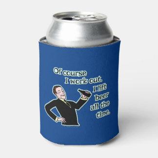 La cerveza divertida resuelve humor enfriador de latas