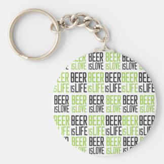 La cerveza es amor, cerveza es vida llavero redondo tipo pin