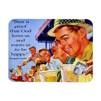 """La """"cerveza es dios de la prueba nos ama"""" imán"""