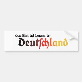 ¡La cerveza es mejor en el pegatina de Alemania -  Etiqueta De Parachoque