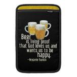 La cerveza es prueba (Franklin) Funda MacBook