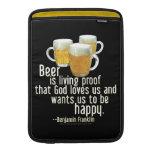La cerveza es prueba (Franklin) Funda Macbook Air