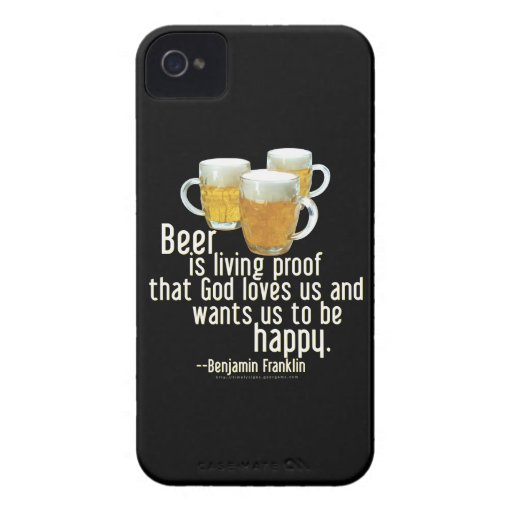 La cerveza es prueba (Franklin) iPhone 4 Case-Mate Cárcasas