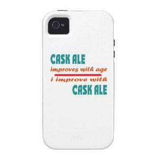 La cerveza inglesa del barril mejora con edad Case-Mate iPhone 4 funda