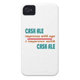 La cerveza inglesa del barril mejora con edad Case-Mate iPhone 4 protectores