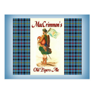 La cerveza inglesa del viejo gaitero de MacCrimmon Tarjeta Postal