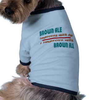 la cerveza inglesa marrón mejora con edad camiseta con mangas para perro