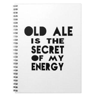 La cerveza inglesa vieja es el secreto de mi cuadernos