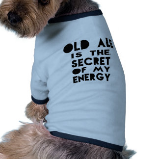 La cerveza inglesa vieja es el secreto de mi camiseta con mangas para perro