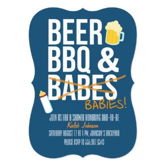 """La cerveza, la fiesta de bienvenida al bebé del invitación 5"""" x 7"""""""