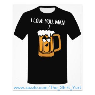 "La cerveza le ama, hombre folleto 4.5"" x 5.6"""