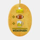 La cerveza más fútbol más el queso iguala Wisconsi Ornamentos De Reyes Magos