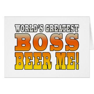 La cerveza más grande de Boss de los mundos de las Tarjeta Pequeña