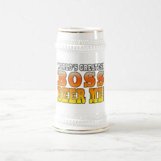 La cerveza más grande de Boss de los mundos de las Tazas De Café