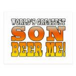 La cerveza más grande del hijo de los mundos de lo postal