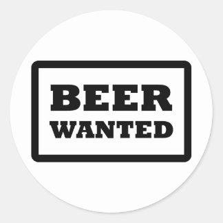 la cerveza negra quiso el icono pegatinas redondas