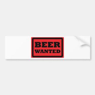 la cerveza roja quiso el icono etiqueta de parachoque