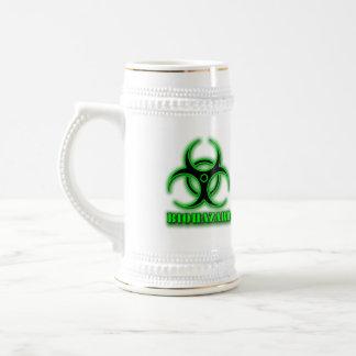 La cerveza Stein del Biohazard Jarra De Cerveza