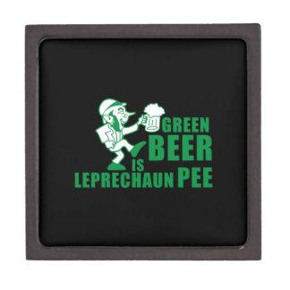 La cerveza verde es pis del leprechaum cajas de recuerdo de calidad