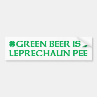 La cerveza verde es pis del Leprechaun Pegatina De Parachoque