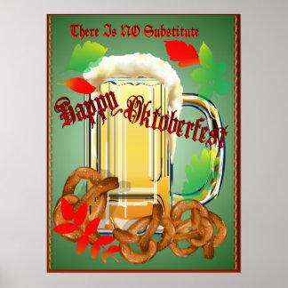 La cerveza y los Pretzeles-Allí no es NINGÚN poste Póster