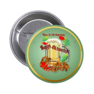 La cerveza y los Pretzeles-Allí no es NINGÚN subst Pin Redondo De 2 Pulgadas