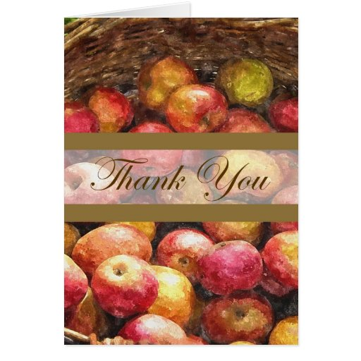 La cesta 1 de Apple le agradece Tarjeta De Felicitación