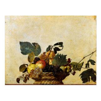 La cesta de Caravaggio de fruta Postales