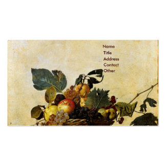 La cesta de Caravaggio de fruta Tarjetas De Visita