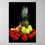 La cesta de fruta impresiones