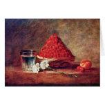 La cesta de la fresa de Chardin Jean-Baptiste Sim Tarjetón