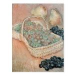 La cesta de uvas, 1884 postal