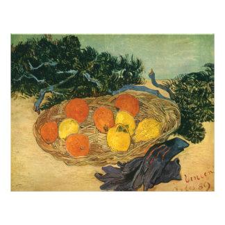 La cesta de Vincent van Gogh de la fruta y de los  Tarjetones