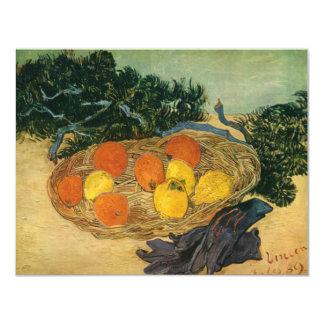 La cesta de Vincent van Gogh de la fruta y de los Invitacion Personal