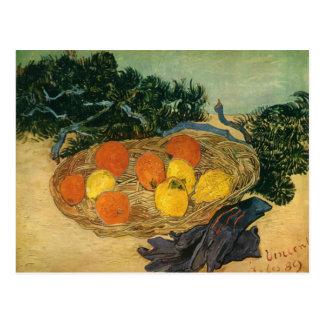 La cesta de Vincent van Gogh de la fruta y de los Postal