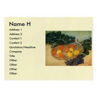 La cesta de Vincent van Gogh de la fruta y de los Tarjetas De Visita Grandes