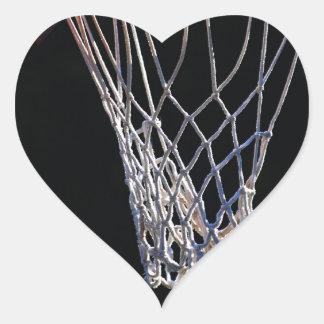 La cesta calcomania corazon