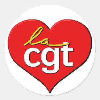 La CGT - auto-collant Round Stickers