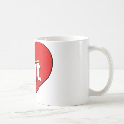 La CGT coeur Classic White Coffee Mug