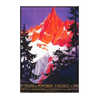 La Chaine De Mont-Blanc Vintage PosterEurope Canvas Print