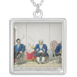 La Chambre Divisee en Trois Partis Silver Plated Necklace