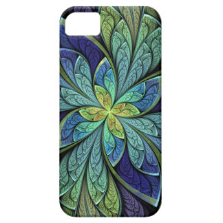 La Chanteuse IV Green and Blue Abstract iPhone SE/5/5s Case