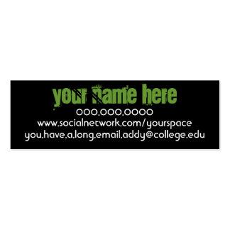 La Chanteuse IV Personal Contact Card
