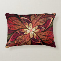 La Chanteuse Rouge Red Abstract Pattern Decorative Pillow