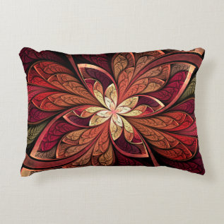 La Chanteuse Rouge Red Abstract Pattern Decorative Pillow at Zazzle